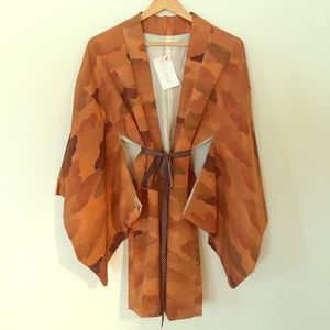 Other - Vintage Authentic Japanese Short Kimono Earth Tone